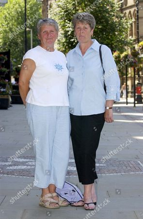 Editorial photo of Relatives Of Shipman Victims Sisters Helen Mcconnell And Betty Clayton Pictured Outside Manchester Town Hall Where The Second And Third Reports Into The Harold Shipman Inquiry Were Being Delivered.