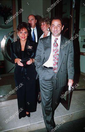 Editorial photo of DANIEL SUGAR SON OF BUSINESSMAN ALAN SUGAR, ENGAGEMENT PARTY AT QUAGLINOS, LONDON, BRITAIN - SEP 1993