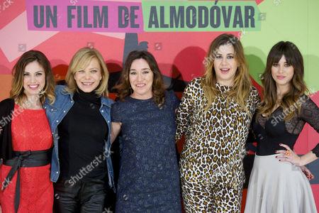 Stock Photo of Laya Marti, Cecilia Roth, Lola Duenas, Pepa Charro and Blanca Suarez