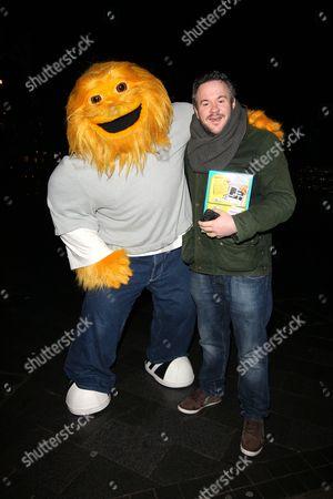 Stock Picture of XFM Breakfast Host Matt Dyson meets The Honey Monster