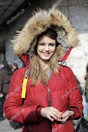 Editorial image of Street Style, Autumn Winter 2013, Paris Fashion Week, France - Mar 2013