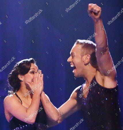 Beth Tweddle and Daniel Whiston are announced as the winners of Dancing On Ice 2013