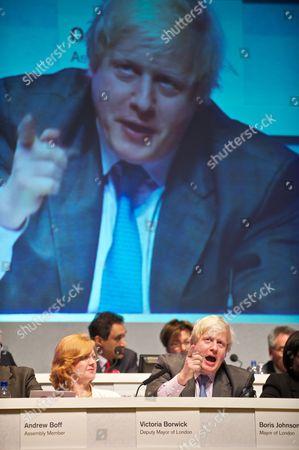 Victoria Borwick and Boris Johnson