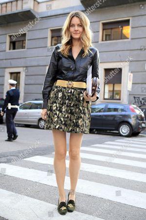 Editorial photo of Street Style, Spring Summer 2013, Milan Fashion Week, Italy - Sep 2012