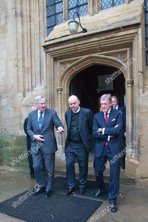 The Duke of Gloucester, Canon Brian Mountford (Vicar of University Church of St Mary The Virgin, Oxford), Sir Tim Stevenson Lord Lieutenant of Oxfordshire