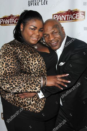 Stock Picture of Mikey Lorna Tyson and Mike Tyson