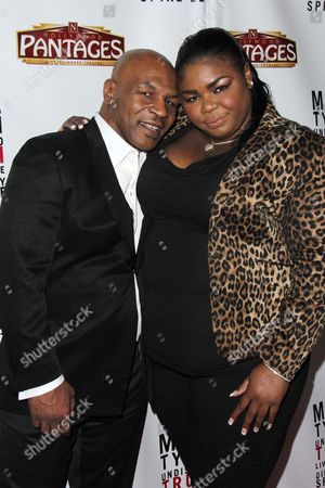 Stock Image of Mikey Lorna Tyson and Mike Tyson