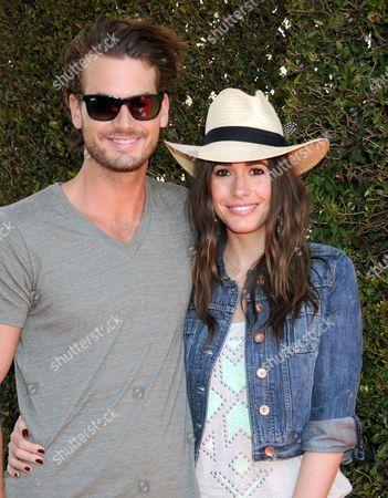 Stock Picture of Louise Roe and boyfriend Josh Slack