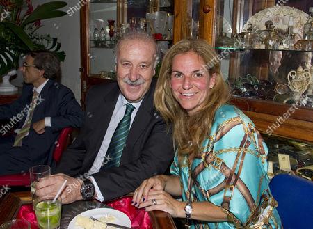 Vicente del Bosque and Arantxa Sanchez-Vicario