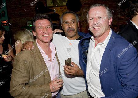 Lord Sebastian Coe, Daley Thompson and Sean Fitzpatrick