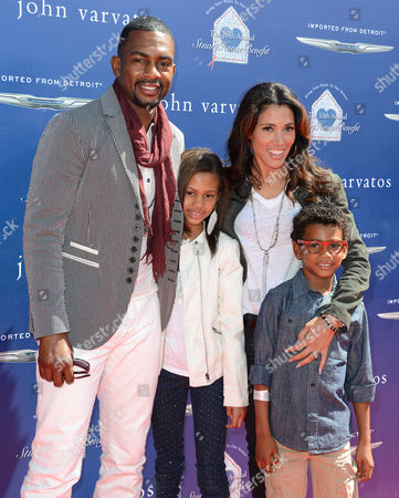 Bill Bellamy, wife Kristen Baker with daughter Bailey and son Baron