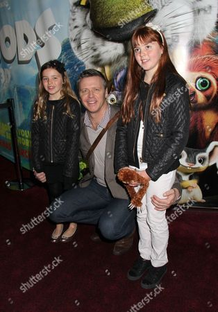 Steve Backley with daughters Sophia and Ellese