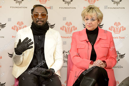will i am and Martina Milburn,Chief Executive of the Prince's Trust.