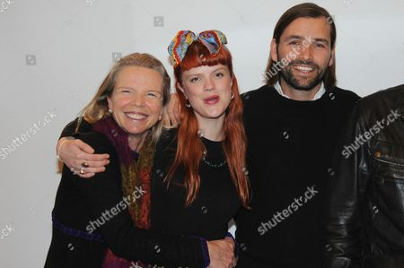 Stock Image of Vanessa Branson with daughter Florence and Jack Brockway