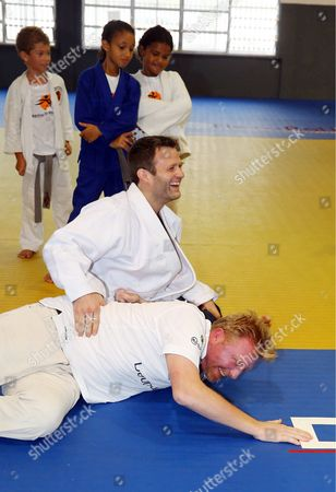 Ole Bischof and Boris Becker judo training