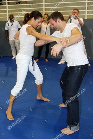 Sharlely Lilly Kerssenberg and Ole Bischof judo training