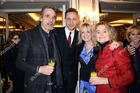 Jeremy Irons, Tom Hiddleston, Twiggy Lawson and Sinead Cusack