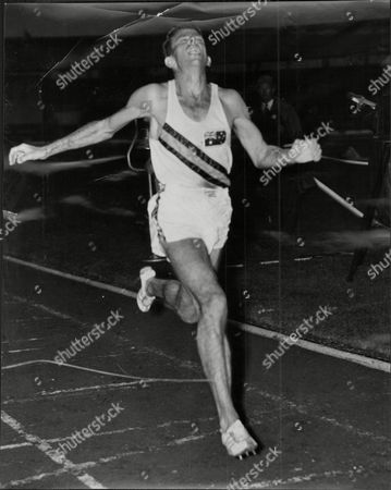 Stock Image of Dave Power (w.d. Power) Athlete Winning Six Mile Aaa Race At White City.