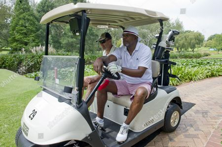 Editorial picture of Samuel L. Jackson playing golf at the Observatory Golf Club, Johannesburg, South Africa - 12 Mar 2013