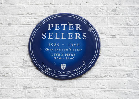Stock Photo of Blue plaque on the exterior of the property
