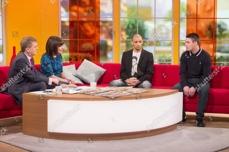 Aled Jones and Lorraine Kelly with Curtis Woodhouse and James O'Brian