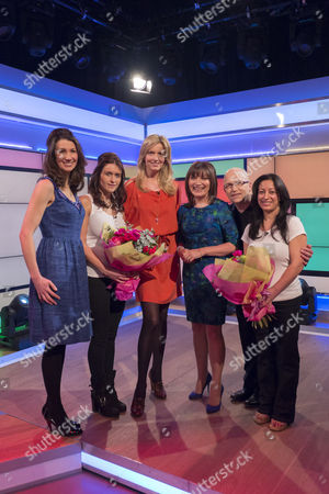 Penny Lancaster, Nicky Johnston and Rosie Green   (Winner) Kiran Mann, Age 41 From Essex and (Winner) Rebecca Mellor, Age 30 From Lancashire and Lorraine Kelly
