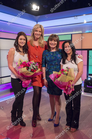 Stock Photo of Penny Lancaster, Rosie Green   (Winner) Kiran Mann, Age 41 From Essex and (Winner) Rebecca Mellor, Age 30 From Lancashire and Lorraine Kelly