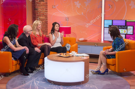 Penny Lancaster, Nicky Johnston, Rosie Green and Rebecca Mellor with Lorraine Kelly