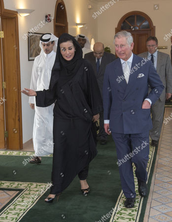Prince Charles meets Sheikha Mozah Bint Nasser Al Missned, wife of the Emir of Qatar at the Qatar Foundation in Doha