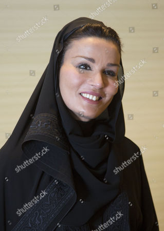 Sheikha Mozah Bint Nasser Al Missned, wife of the Emir of Qatar at the Qatar Foundation in Doha