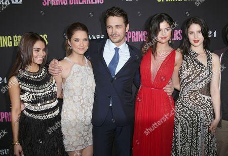 Vanessa Hudgens, Ashley Benson, James Franco, Selena Gomez and Rachel Korine