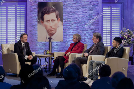 Alan Titchmarsh with Robert Hardman and Martina Milburn
