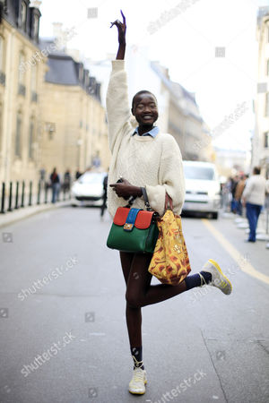 Editorial photo of Street Style, Spring Summer 2013, Paris Fashion Week, France - Sep 2012