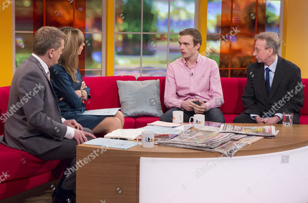 Aled Jones and Kate Garraway with Kris Newby and Adrian Scarf