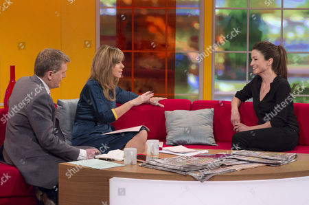 Aled Jones and Kate Garraway with Rebecca Loos