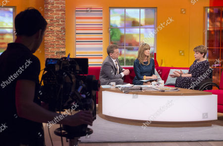 Aled Jones and Kate Garraway with Baroness Tanni Grey-Thompson