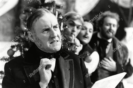 Stock Image of Richard Briers (Malvolio), James Simmons (Sir Andrew Aguecheek), Shaun Prendergast (Fabian), James Saxon (Sir Toby Belch)