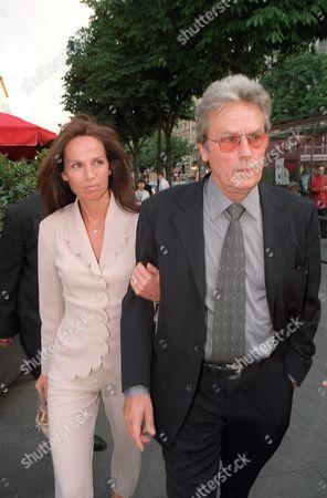 Alain Delon and Wife Rosalie