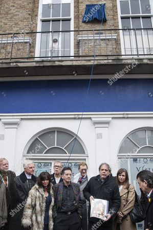 Rick Wakeman and Frank Allen at unveiling of blue plaque honouring former Beatles John Lennon and George Harrison