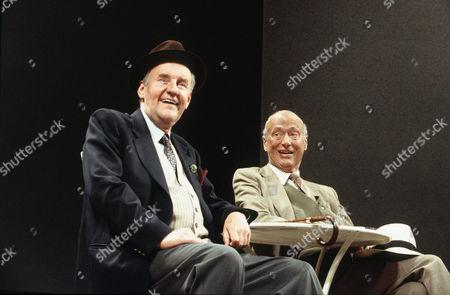 'Home' play at Wyndham's Theatre, London -  Richard Briers (Jack) and Paul Eddington (Harry)