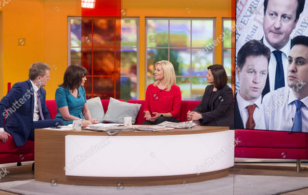 Aled Jones and Lorraine Kelly with Abi Titmuss and Jacqui Hames