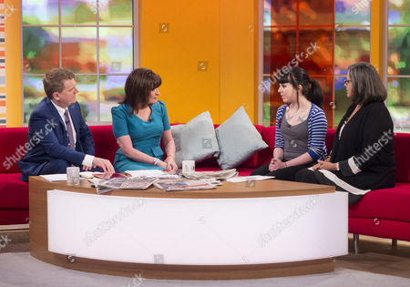 Aled Jones and Lorraine Kelly with Loretta Butterworth and Sandra Horley