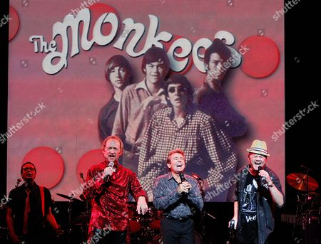 The Monkees - Peter Tork, Davy Jones and Micky Dolenz