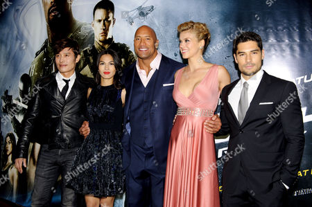 Byung Hun-Lee, Elodie Yung, Dwayne Johnson, Adrianne Palicki and DJ Cotrona