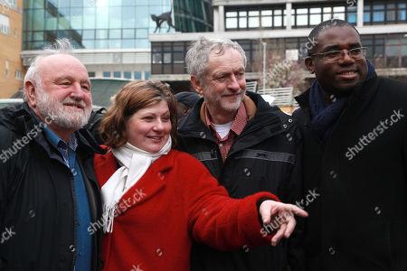Stock Image of Frank Dobson, Emily Thornberry, Jeremy Corbyn, David Lammy