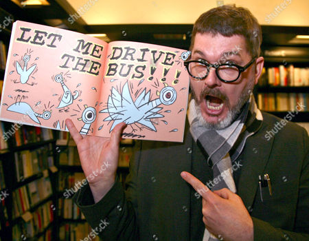 Editorial photo of Mo Willems 'Don't Let The Pigeon Drive The Bus' book signing, Oxford, Britain - 18 Mar 2013