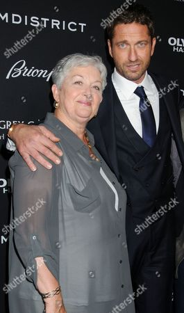 Gerard Butler and mother