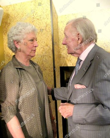 Stock Photo of Dame Monica Mason and Leslie Phillips