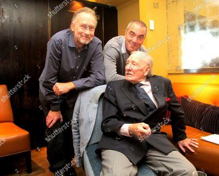 Nicholas Evans, James Nesbitt and Leslie Phillips