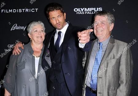 Gerard Butler with parents Margaret and Edward Butler